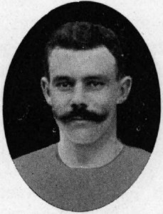 Johannes Gandil, who represented Denmark at both athletics and football in the Olympics and hosted a dinner for the Liverpool party in 1910